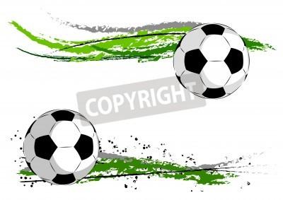 Fotomural Fútbol en el resumen verde
