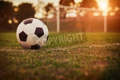 Fotomural Fútbol en la puesta del sol