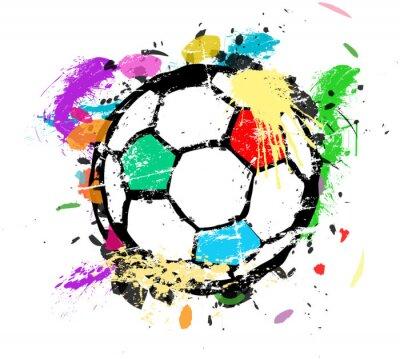 Fotomural Fútbol o fútbol ilustración vectorial, pintura multicolor splas