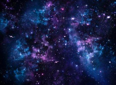 Fotomural Galaxy, fondo azul abstracto