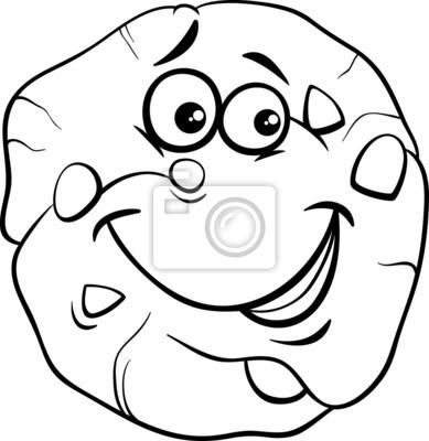 Galletas para colorear de dibujos animados fotomural • fotomurales ...