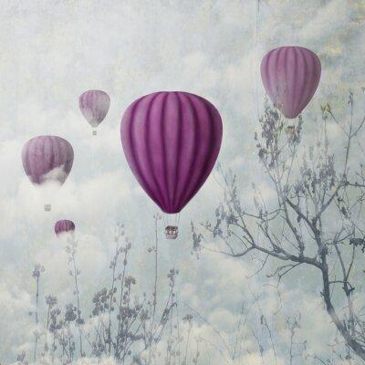 Fotomural Globos de color rosa