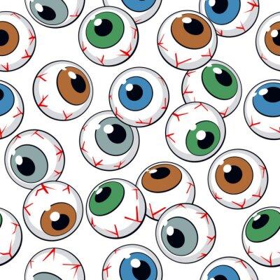 Fotomural Globos oculares de fondo sin fisuras
