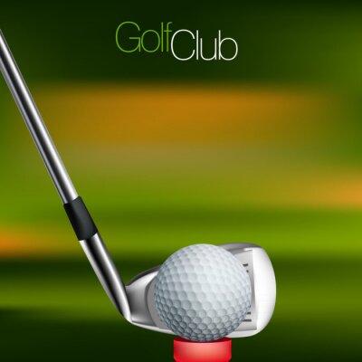 Fotomural Golf Antecedentes Todos los elementos están en capas separadas y agrupados.