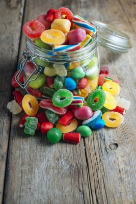 Fotomural Goma de caramelo colorida