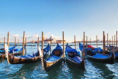 Fotomural Góndolas flotando en el Gran Canal