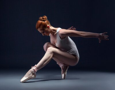 Fotomural Graceful bailarina esbelta en el estudio