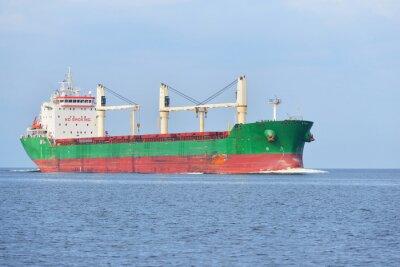 Fotomural Gran buque de carga (granelero) navegando en un brillante día soleado. R