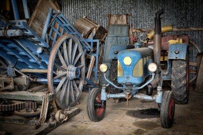 Fotomural Grange et tracteur