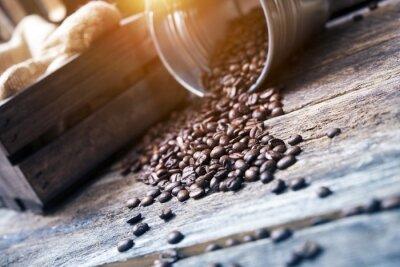 Fotomural Granos de café en Cubo