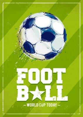 Fotomural Grunge Football Poster