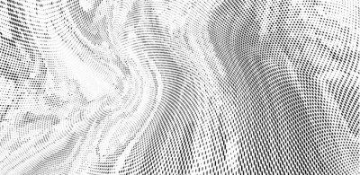 Fotomural Grunge halftone dots pattern texture background