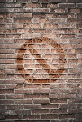 Fotomural Grungy muro urbano con signo prohibido