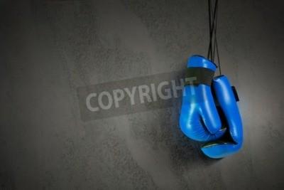 Fotomural Guantes de boxeo colgando de uñas en la pared