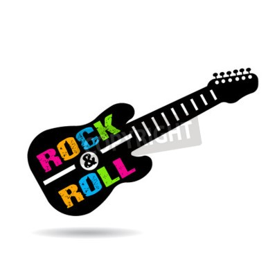 Fotomural Guitarra del rock-and-roll