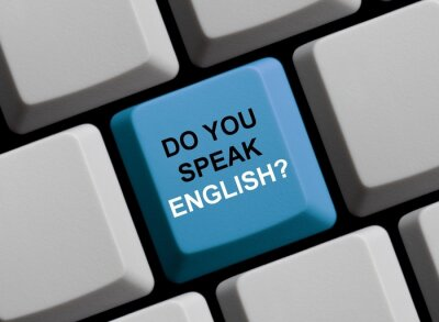 Fotomural ¿Hablas Inglés? Englisch Sprechen Sie?