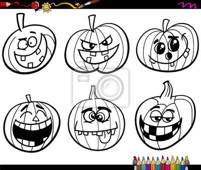 Halloween página para colorear calabazas fotomural • fotomurales ...