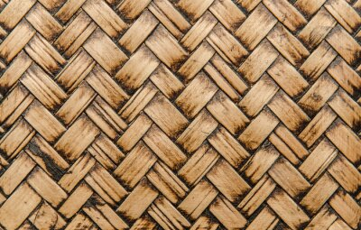 Fotomural handcraft bamboo weave texture for background
