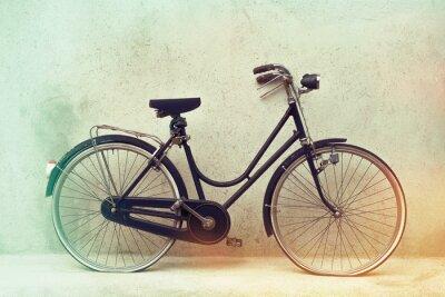Fotomural Hermosa bicicleta oxidada de edad retro con colores efecto impresionante en