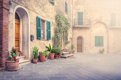 Fotomural Hermosa calle de Montisi, Toscana