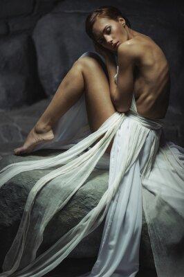 Fotomural hermosa mujer con un cuerpo delgado
