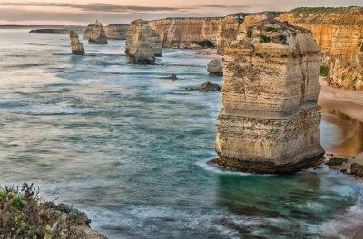 Fotomural Hermosa vista del atardecer en la costa de los Doce Apóstoles por Gran Océano