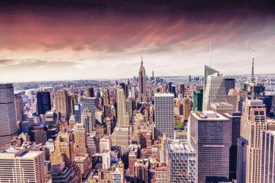 Fotomural Hermosa vista del horizonte de la ciudad de Nueva York