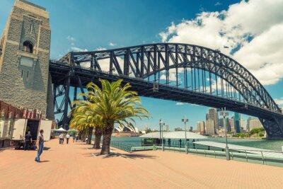Fotomural Hermosa vista del puente del puerto de Sydney