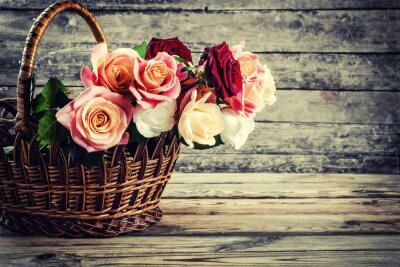 Fotomural Hermosas flores de rosas