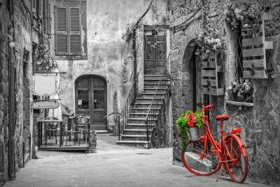 Fotomural Hermoso callejón en la Toscana, el casco antiguo, Italia