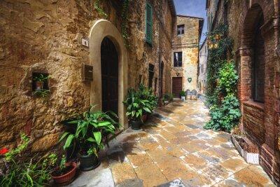 Fotomural Hermosos rincones y recovecos del pueblo medieval italiano en