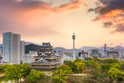 Fotomural Hiroshima Japón Paisaje urbano