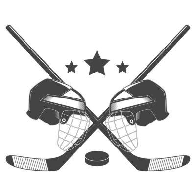 Fotomural Hockey competencia chempionship vector logo
