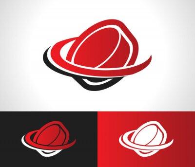 Fotomural Hockey Puck Logo Icon