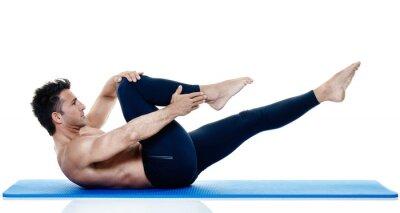 Fotomural Hombre fitness pilates ejercicios aislados