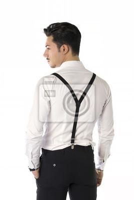 75e81f83eda1e Fotomural Hombre joven hermoso con elegante traje de negocios