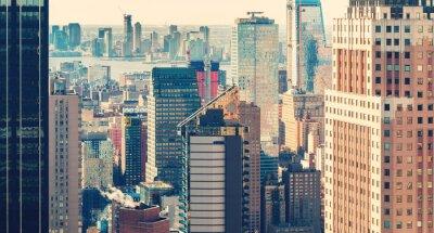 Fotomural Horizonte de la ciudad de Nueva York al atardecer