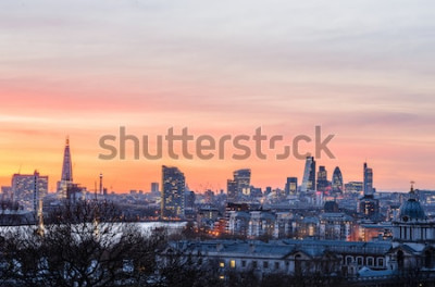 Fotomural Horizonte de Londres al atardecer, Inglaterra, Reino Unido