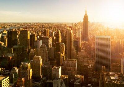 Fotomural Horizonte de Manhattan al atardecer en Nueva York