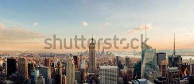 Fotomural Horizonte de Nueva York, mirando al centro de Manhattan. Imagen panorámica