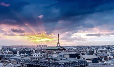 Fotomural Horizonte de París. Detalle arquitectónico de la ciudad