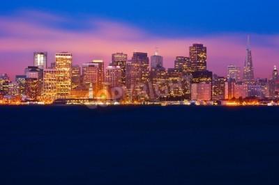 Fotomural Horizonte de San Francisco por la noche