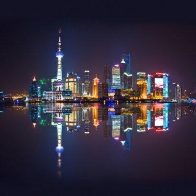 Fotomural Horizonte de Shanghai, carré