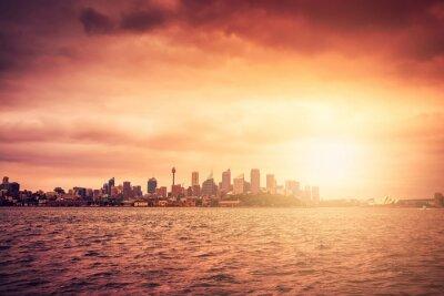 Fotomural Horizonte de Sydney al atardecer