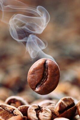 Fotomural humeante café en grano
