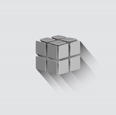 Fotomural Icono de cubo 3D