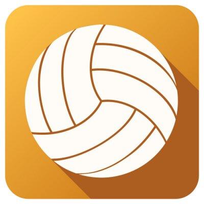 Fotomural Icono de los deportes con pelota de voleibol en FlatStyle. Vector