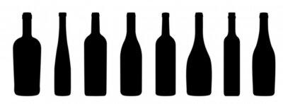 Fotomural Iconos de Weinflaschen