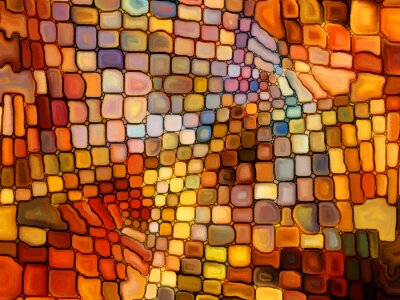 Fotomural Illusion of Stained Glass