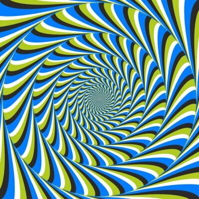 Fotomural ilusión óptica remolino CCW